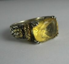 Retired BARBARA BIXBY 18K Yellow Gold & Sterling  Citrine size 7 Ring