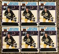 1980-81 Topps Ray Bourque RC Record Breakers Lot (6) #2 Unscratched