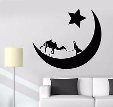 Vinyl Wall Decal Arabian Moon Stars Camel Desert Bedouin Stickers (1095ig)