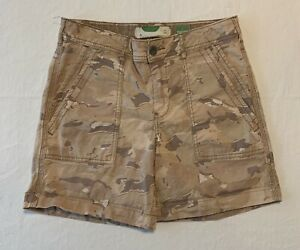 by Anthropologie Beige Tan Camo Print The Wanderer Shorts Size 26 High Rise