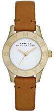 Marc Jacobs MBM1219 Mini Blade White Dial Tan Leather Strap Women's Watch