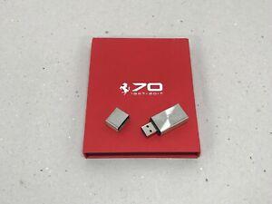 Original Ferrari 70th Anniversary Jubiläum USB Stick Limited Edition with Letter