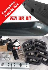 VW Transporter T5 T6 Kombi Rear Triple Bench Seat Full Kit Floor Brackets, Belts