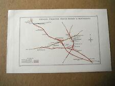 STOCKPORT NORTHENDEN CHOLTON HAZEL GROVE HEATON MERSEY CHEADLE RAILWAY MAP 1928