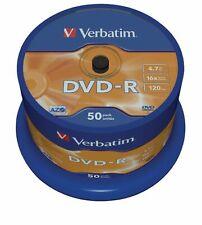NE550588979 - Tarrina de 50 DVD-R Verbatim, capacidad de 4,7 GB, ideales para co