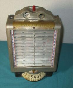 Vintage Deco Style WURLITZER 5¢ NICKLE Jukebox WALLBOX Model # 3031  Item # 2471