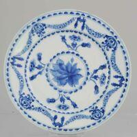 Ca 1700 Kangxi Chinese Porcelain Plate Rare Decoration Flowers Antique[:...