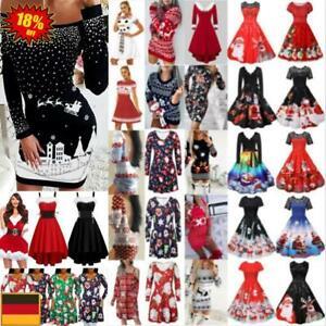 Kleid Timogee Damen Weihnachtskleid Druck-Kleidrock Weihnachten Geschenk Herbst Weihnachtsbandrock Tr/ägerloses Cosplay