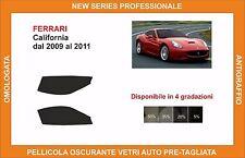 pellicola oscurante vetri Ferrari california dal 2009-2011 kit anteriore
