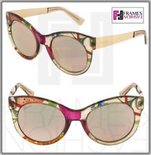 8842e540ef10 GUCCI FLORAL GG3740S Beige Rose Gold Mirrored Metal Sunglasses Cat Eye 3740