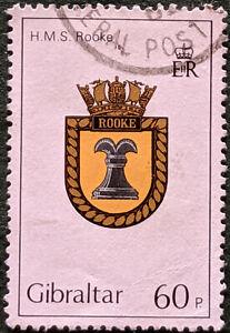 Stamp Gibraltar SG478 1982 60p Royal Navy HMS Rooke Used