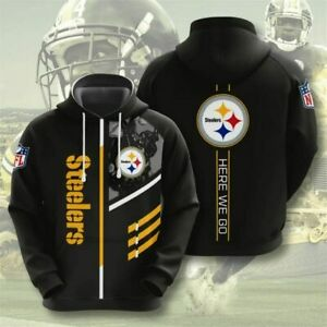 Pittsburgh Steelers Hoodie Sports Sweatshirt Pullover Football Hooded Jacket