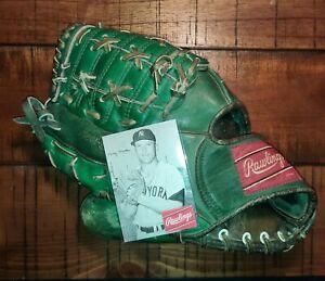 GREEN VINTAGE RAWLINGS  MICKEY MANTLE Baseball Glove RH RARE!!