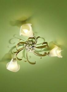 Deckenleuchte creme 3-flg. Lampe Licht Leuchte Deckenlampe #1