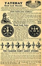 1937 Print Ad of Jeffrey Symbol Coin Indian Yatehay Bracelet Horseshoe Swastika