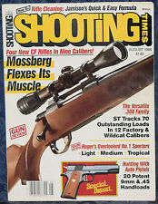 Magazine SHOOTING TIMES, August 1986 !! RUGER No.1 Sporter Single Shot RIFLES !!