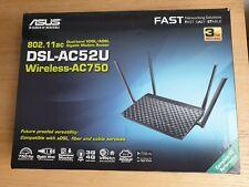 More details for asus dsl-ac52u adsl/vdsl wireless-ac750 router dual band 2.4ghz 5ghz gigabit lan