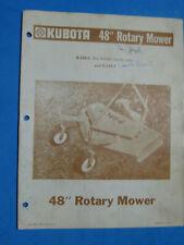Kubota Mower Owners Manual Amp Parts K 348 6 Amp 7 B 6000