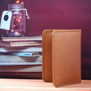 MENS LUXURY SOFT QUALITY GRAIN LEATHER  CREDIT CARD HOLDERf UK SELL