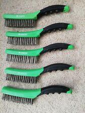 5x VEWERK Soft Grip Stainless Steel Wire Brush 260mm