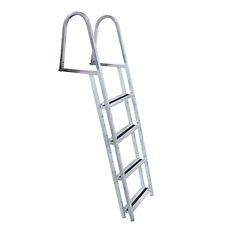 DOCK EDGE 2054-F  STAND-OFF ALUMINUM 4-STEP LADDER W/QUICK RELEASE