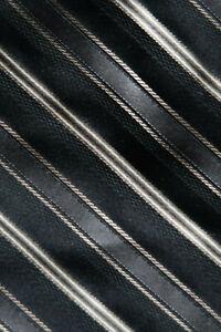MICHAEL KORS MENS SILK NECK TIE BLACK CREAM GREY & MINK STRIPES A MODERN CLASSIC