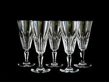 Baccarat Crystal Biarritz Champagne Flute Wine Glasses