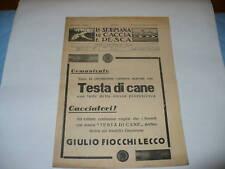 RIVISTA LA SETTIMANA DI CACCIA E PESCA N. 2 1937