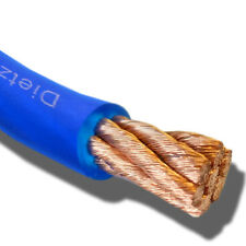 Dietz 23221 OFC Kupfer High End Stromkabel 20mm² Kabel blau Meterware