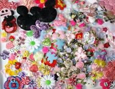 100 Assorted Fabric Applique Mix Bag/Flower/Butterfly/Embe llishment/Sewing H200