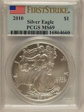 2010 $1 American Silver Eagle MS69 PCGS First Strike