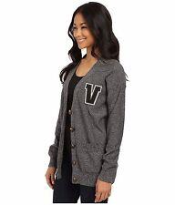 Women's M MD VANS PSYCHPOP CARDIGAN SWEATER JACKET TOP sweatshirt New NWT GREY