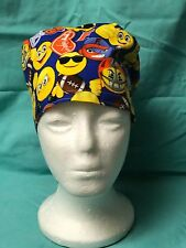 Gators Emoji Motif/Design; Surgical Scrub Chemo Doo Cap/Hat/Rag w/Tie Back; New