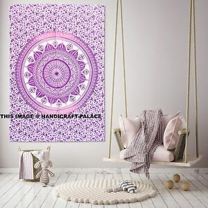 Pink Ombre Mandala New Poster Wall Hanging Ethnic Tapestry Hippy Cotton Bohemian