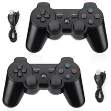 2x Wireless Bluetooth Game Controller Pad For Sony PS3 Playstation 3 Black