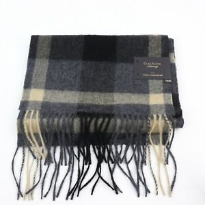 Club Room, Men's Printed Gray/Tan Cashmere Scarf, MSRP $120.00