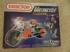 Erector Motorcycle Building Construction Toy Set #5570 Instructions For 5 Models