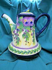 """New listing Blue Sky Clayworks """"Wisteria"""" Tea Pot"""