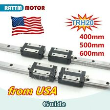 Usa20mm Square Linear Guide Rail 400mm 500mm 600mm 4pcs Block For Cnc Router