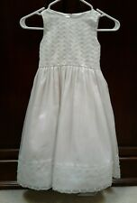 CINDERELLA White Communion Dress with Head Dress/Veil Size 6