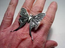 Luna Moth Ring Bloodmilk Sterling Silver