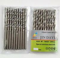 """10pcs 1/16"""" Twist Drill Bit HSS High Speed Steel drilling Metal Wood Plastic  Z"""