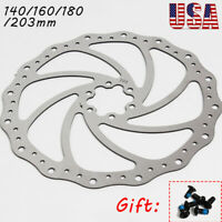 140/160/180/203mm MTB Bike Disc Brake Rotor Stainless Steel For Shimano Sram US