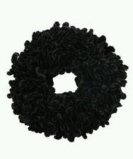 Hijab Black Volumizer Khaleeji Velvet Scrunchie Large Flower Hair Tie Bun Scarf