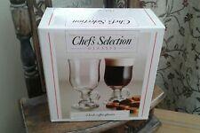 Beautiful SET of TWO....IRISH COFFEE GLASS CUPS...NEW/BOXED...BELGIUM.