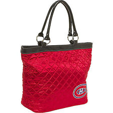 NEW NHL MONTREAL CANADIENS QUILTED TOTE BAG PURSE red