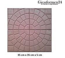 """Gips Trittsteine Gehweg  /""""Blume/"""" 25x25 10 Schalungsformen Gießformen für Beton"""