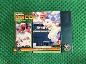1999 Pacific Omega Platinum Blue #236 Rusty Greer 01/75 Texas Rangers