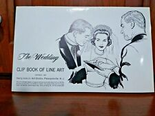Libro De Clip de boda de 1963 completa de Line Art Harry Volk Jr Art Studio-no 359