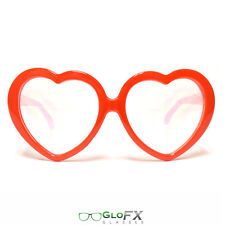 GloFX Heart Diffraction Glasses Opticals Effect Goggles Laser Etched Rave Club